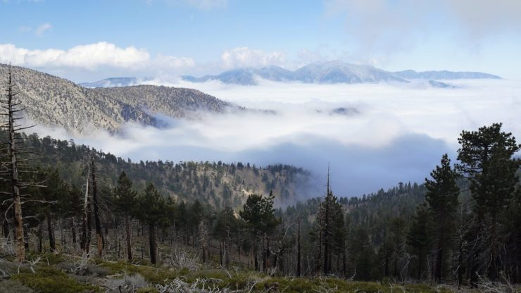 Angeles National Forest - Mountain with clouds