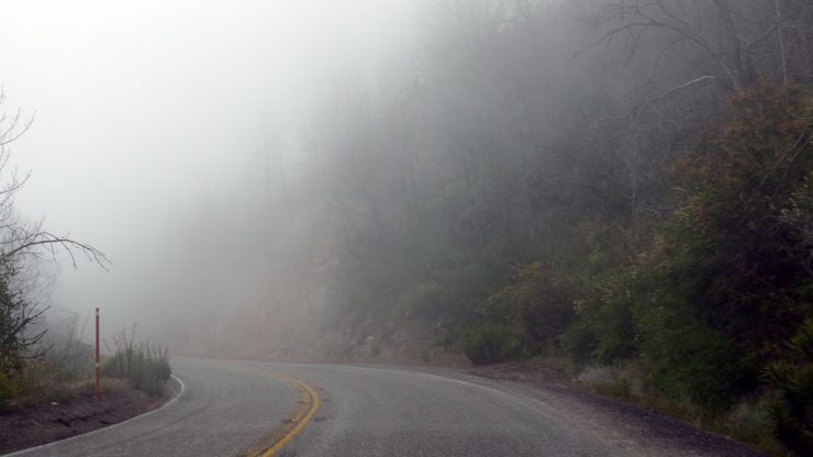 Angeles National Forest - road in the cloud