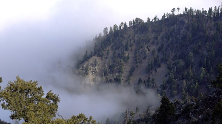 Angeles National Forest - mountain with cloud