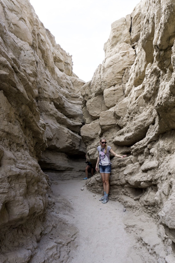 girl in the slot canyon