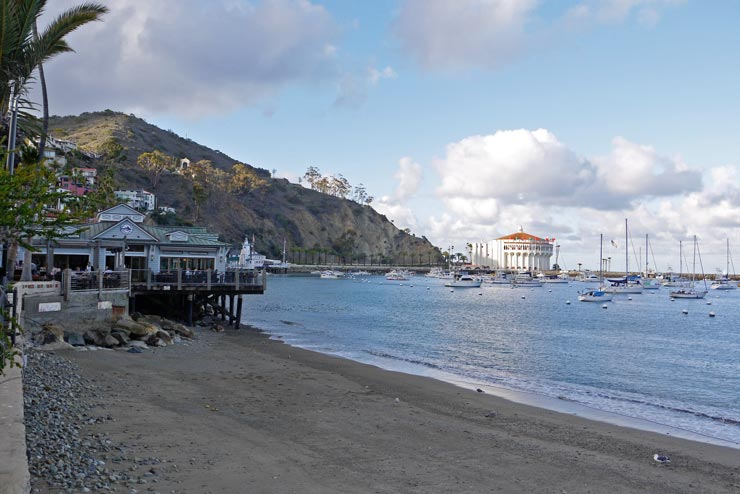 Avalon shore in Catalina Island