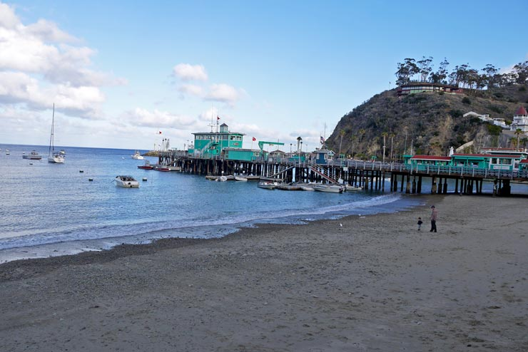 Avalon beach and pier, Catalina Island
