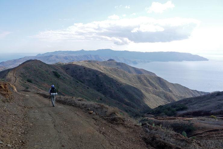 Backpacker at Catalina Island