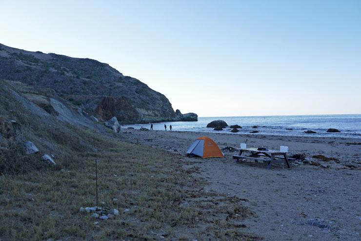 Parsons Landing campsite at Catalina Island
