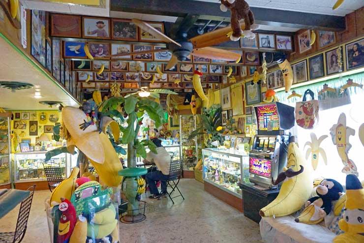 Inside in the international banana musesum